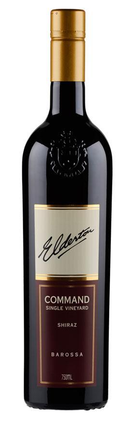 Command Shiraz Barossa wine bottle shot