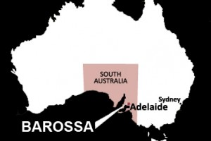 Map Barossa in Australia