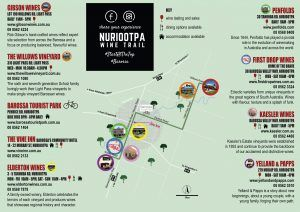 Nuriootpa Wine Trail map, Barossa Valley