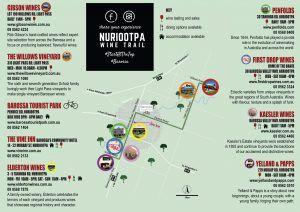 Nuriootpa Wine Trail map, Barossa Valley