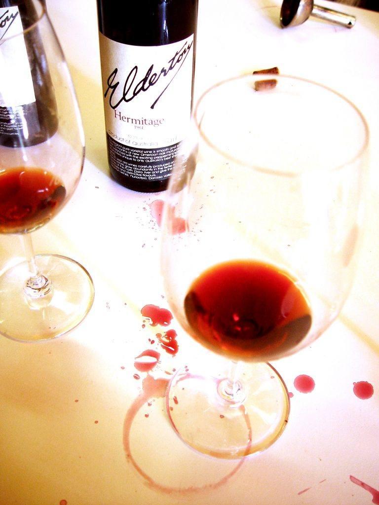 1984 Hermitage tasting glass