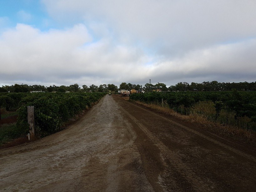 Making of a road to Elderton's new Cellar Door