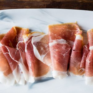 Prosciutto, great with Elderton Barossa Semillon