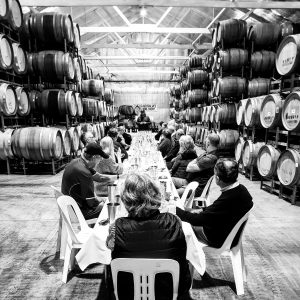 2018 15CLUB tasting in barrel hall