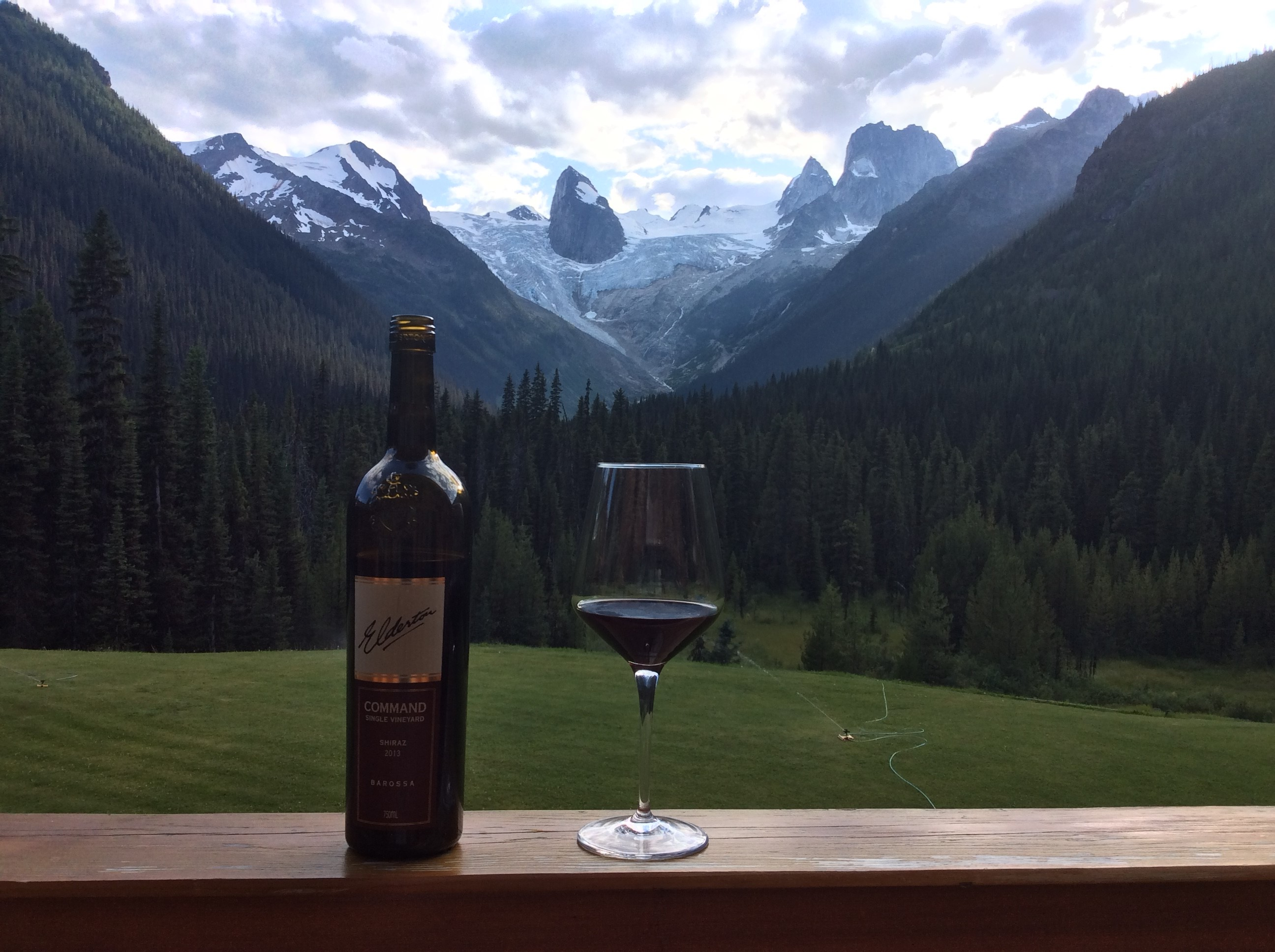 Command Shiraz on tour with Derek in the Bugaboos in Canada