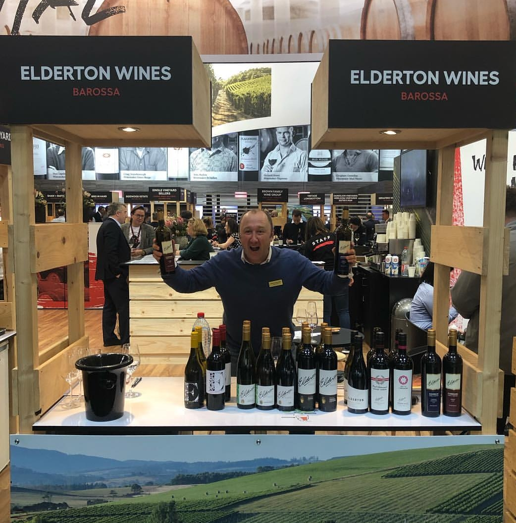 Cameron enjoying the atmosphere at ProWein