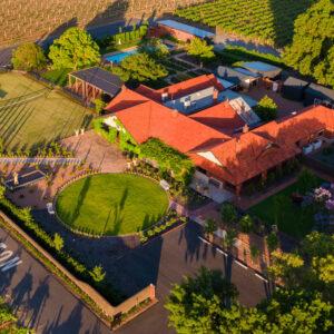 Elderton Wines Cellar Door - aerial photo