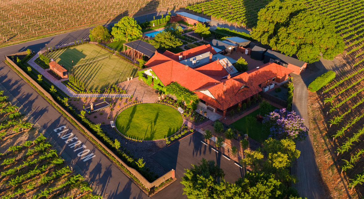 Elderton Wines Cellar Door - aerial photo